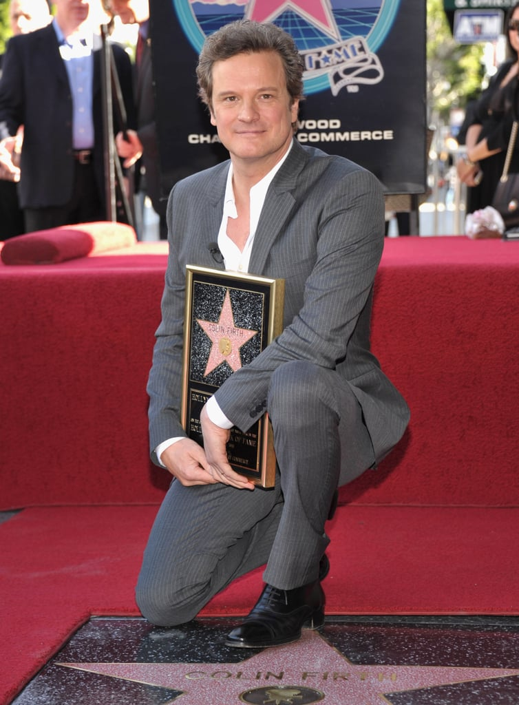 Pictures of Colin Firth Receiving His Star on the Hollywood Walk of Fame With The King's Speech Cast