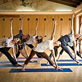 Besides the outdoor activities, you'll find all the basic fitness classes you love like yoga . . .