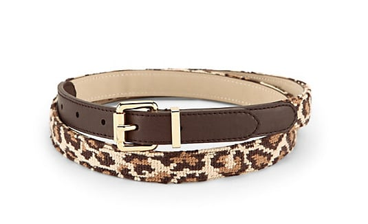 The needlepoint belt was one of those accessories I'd never bothered with. I love prep, but that always felt a little too on the nose for me. But this C. Wonder leopard-print iteration with leather trim and gold detailing ($68) is begging to be paired with everything from black cropped trousers to skinny jeans or used to cinch my many LBDs. — KS