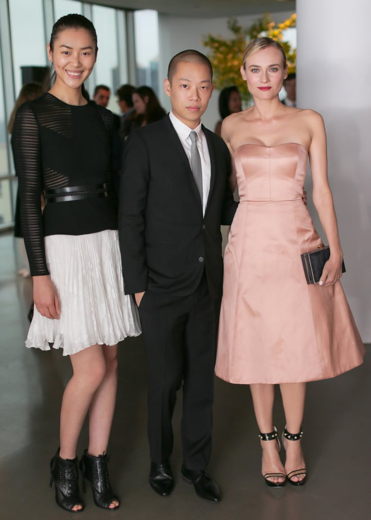 Liu Wen, Jason Wu, and Diane Kruger at a benefit dinner for ACRIA in New York. Source: David X Prutting/BFAnyc.com