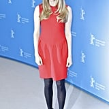Amanda Seyfried's little red dress by Roksanda Illincic was the star of her look in Berlin. To keep cozy, she added black tights and black suede booties. Let Amanda inspire you to bust out your LRD.