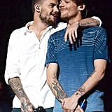 Liam Payne and Louis Tomlinson at Jingle Ball in LA in 2015