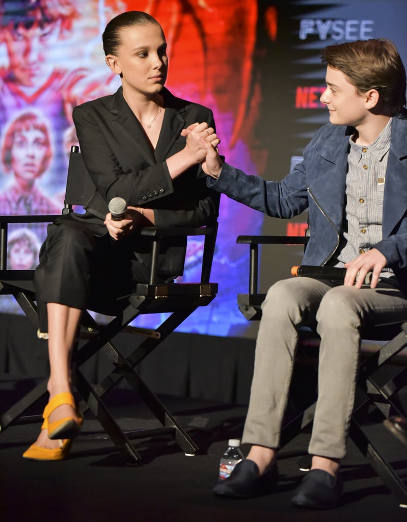 Millie and Noah Shared a Funny Handshake During Their Onstage Panel