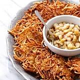 Crispy Potato Latkes With Spiced Pear Compte