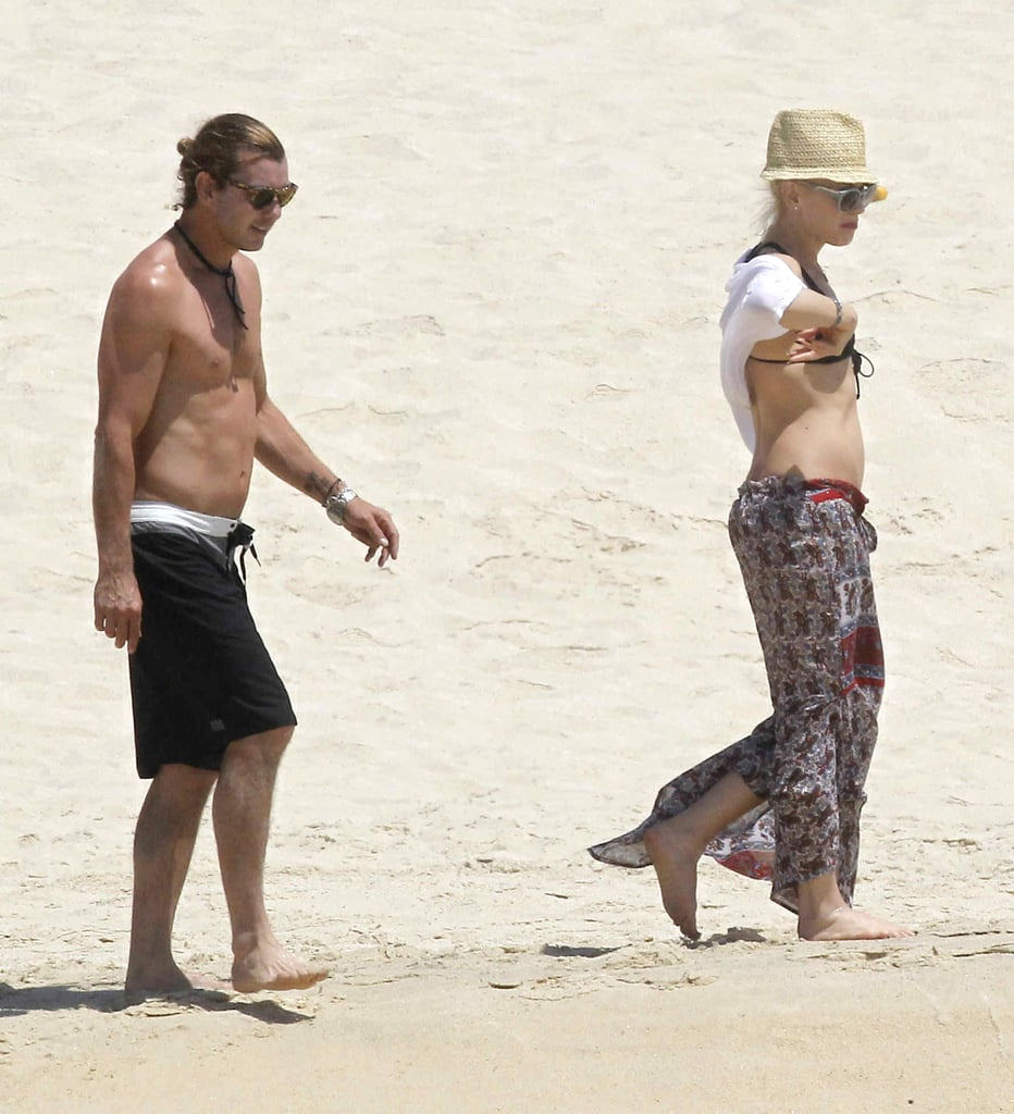 They enjoyed the beach in Cabo in April 2012.