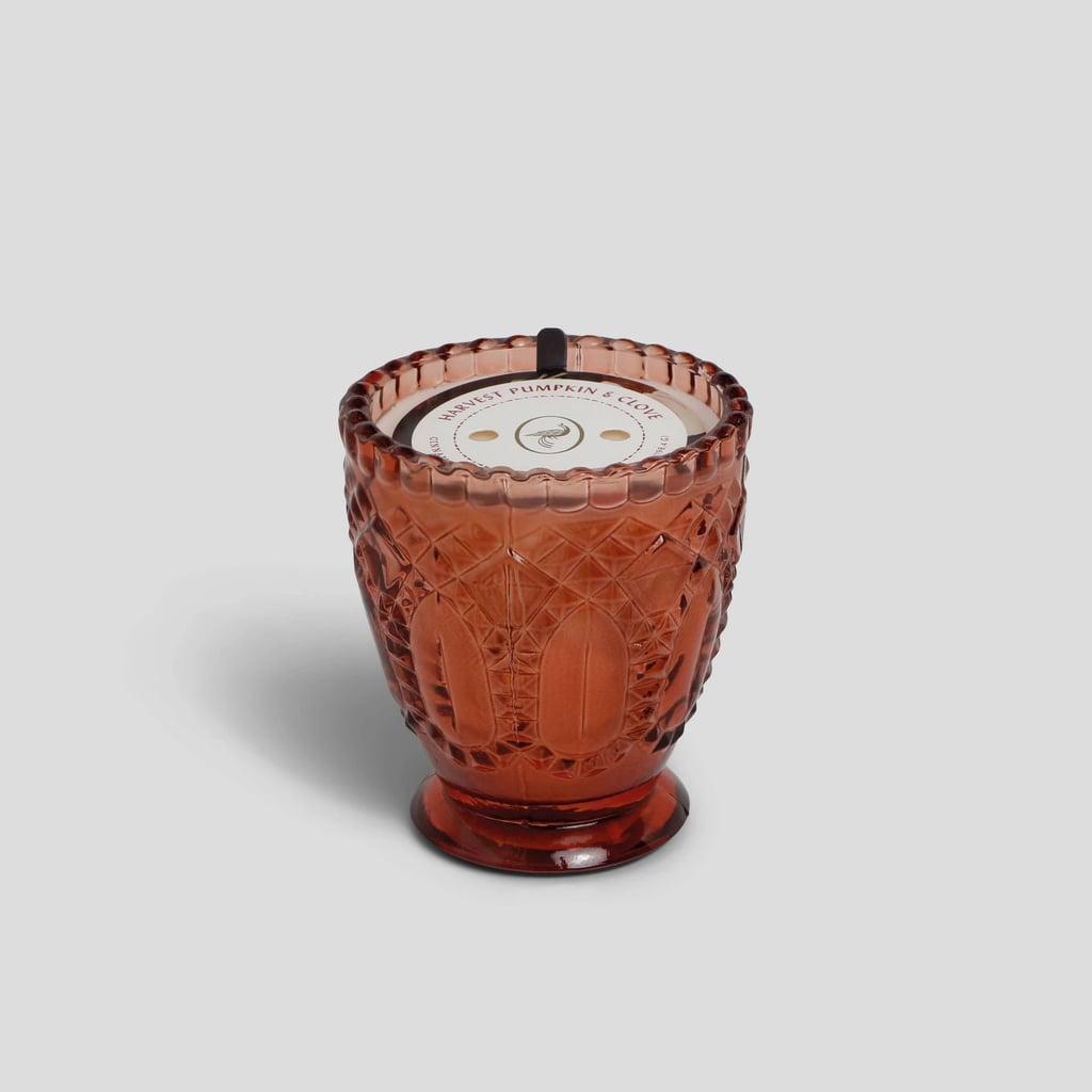 Pumpkin & Clove Footed Glass Jar Candle