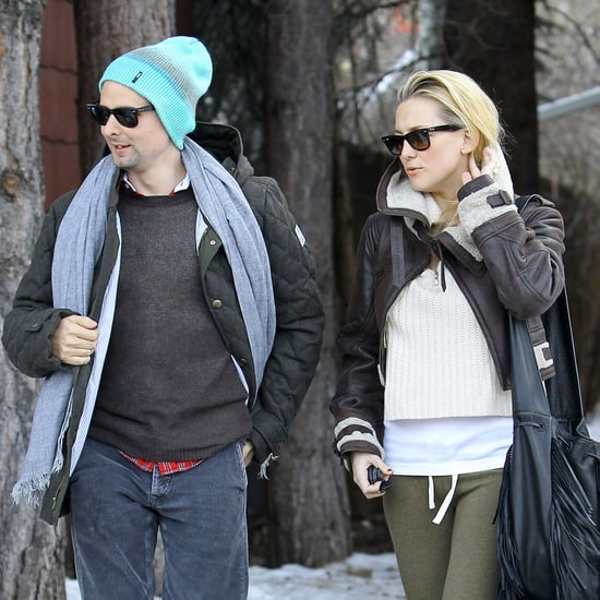 Kate Hudson and Matthew Bellamy Aspen For Christmas Pictures