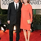 Owen Wilson and his mother at the Golden Globes.