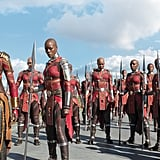 Okoye and Ayo With the Dora Milaje