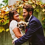 This adorable couple is seriously all smiles with their pooch!