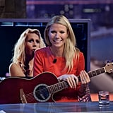 Gwyneth Paltrow played the guitar on Spanish TV.
