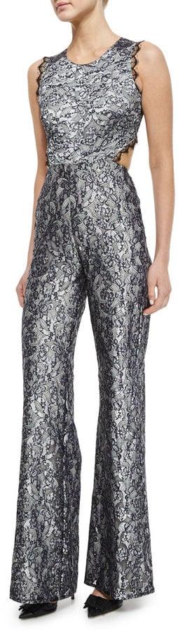 Alexis Sleeveless Floral Lace Jumpsuit ($583)