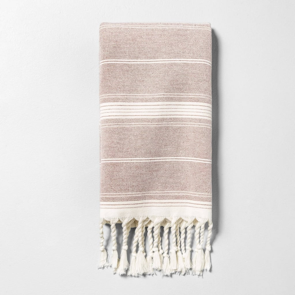 Hand Towel in Striped Rust