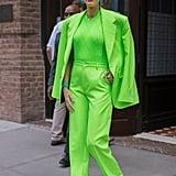 Kim Kardashian Wearing Neon Fashion Trend