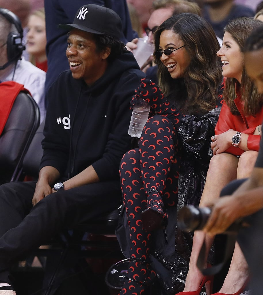 Beyoncé And JAY-Z At Houston Rockets Game Pictures May