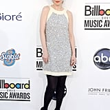 Zooey sparkled in a halter-style Moschino minidress at the 2012 Billboard Music Awards.