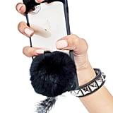 Dolls Kill Black Cat Fluff Ball iPhone 6 Case ($18)