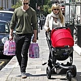 Chris Hemsworth and Elsa Pataky walked in London with baby India Hemsworth.