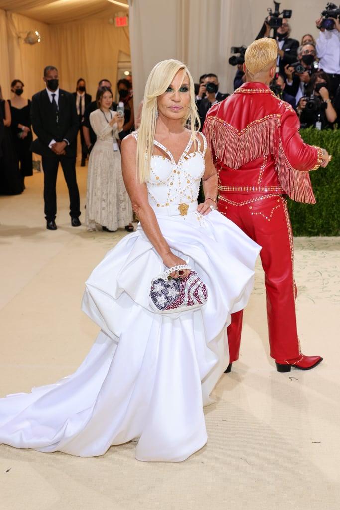 Donatella Versace at the 2021 Met Gala