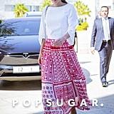 Queen Rania Red Fendi Skirt
