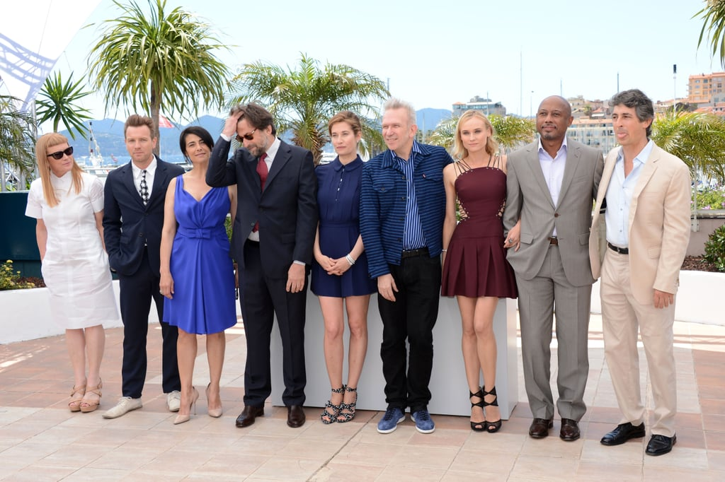 Jury members Alexander Payne, Raoul Peck, Diane Kruger, Jean-Paul Gaultier, Emmanuelle Devos, Nanni Moretti, Hiam Abbass, Ewan McGregor, and Andrea Arnold linked up at the jury photo call during the 65th Annual Cannes Film Festival.