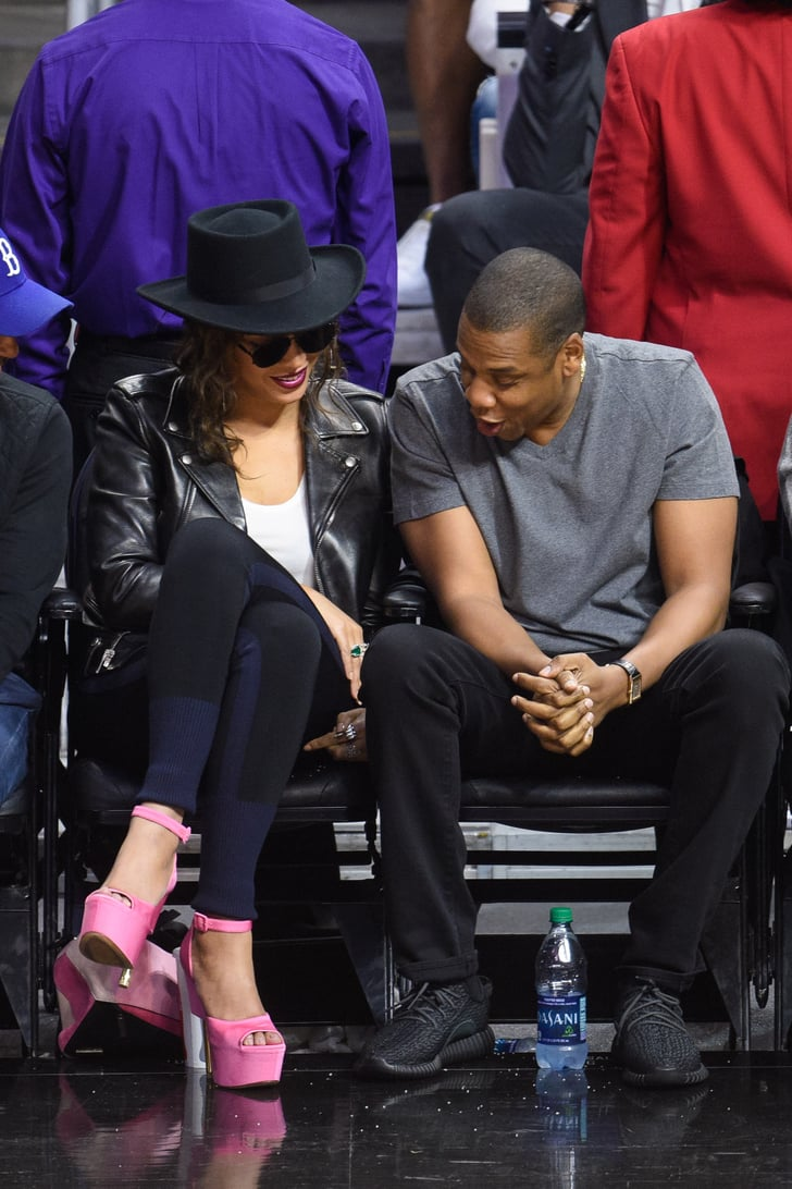 Jay Z And 50 Cent: Jay Z And Beyonce At LA Clippers Game February 2016