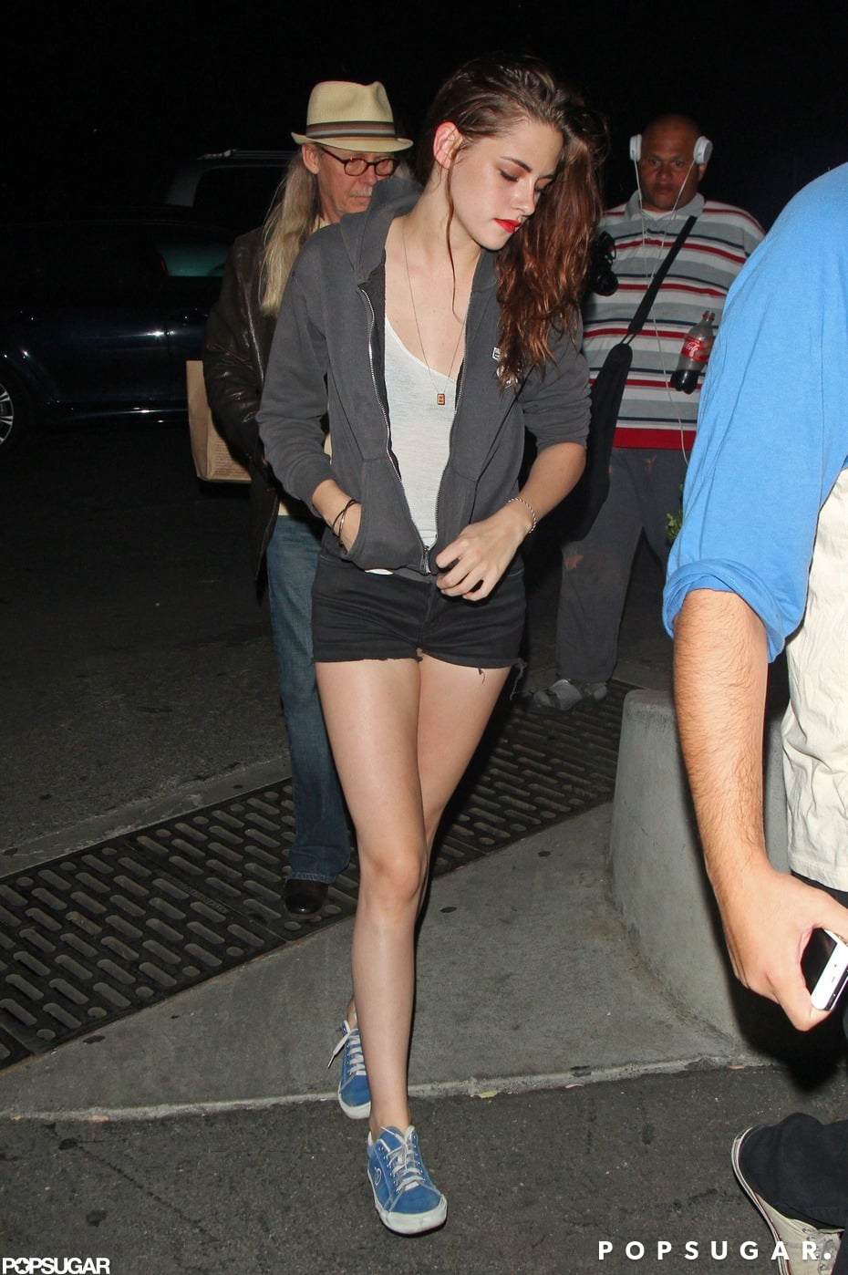 Kristen Stewart showed off her legs at a Florence and the Machine concert.