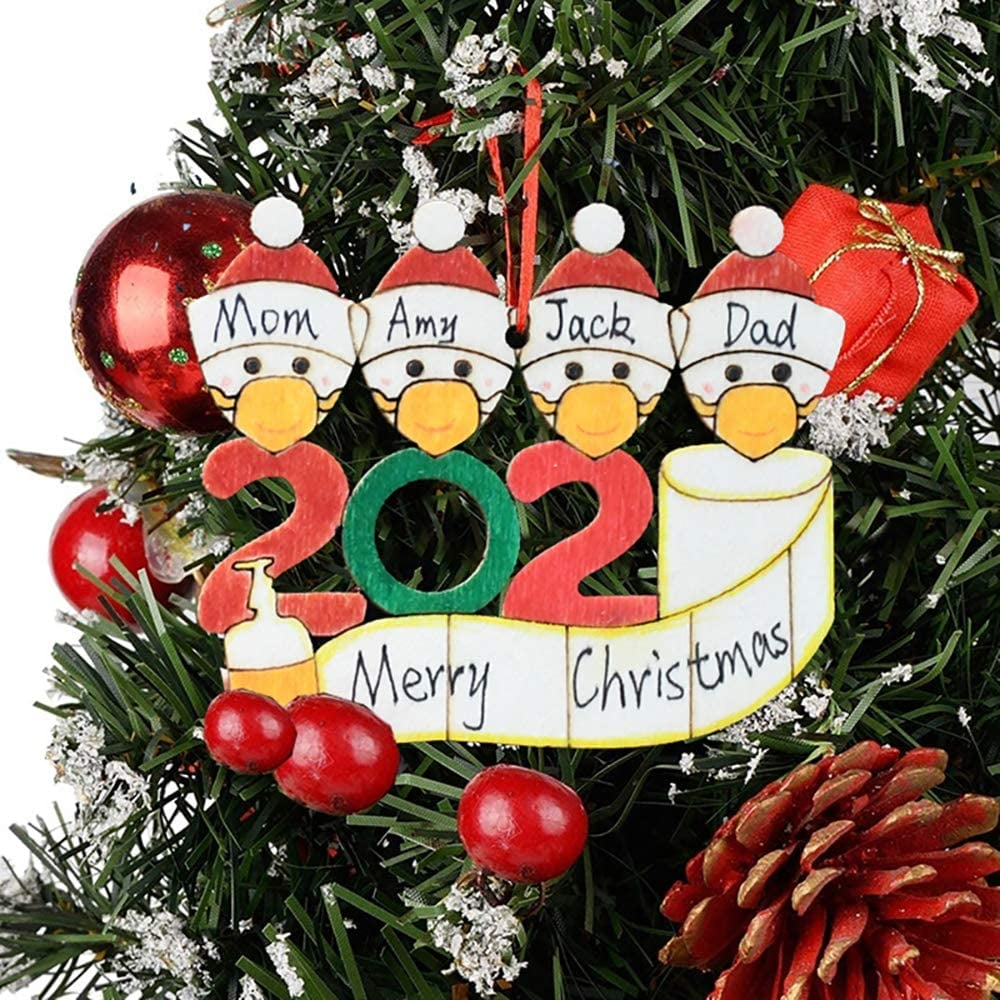 First Christmas 2020 Personalized Family Name Round With Snowman Christmas Tree Decorative Ornament Keepsake Custom Merry Christmas Gift