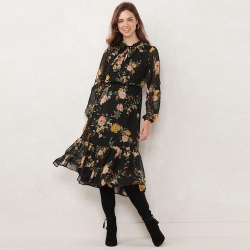 LC Lauren Conrad Ruffle Prairie Dress