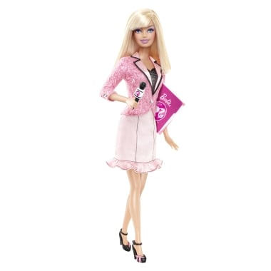 News Anchor Barbie Has a Flair For Power Pink