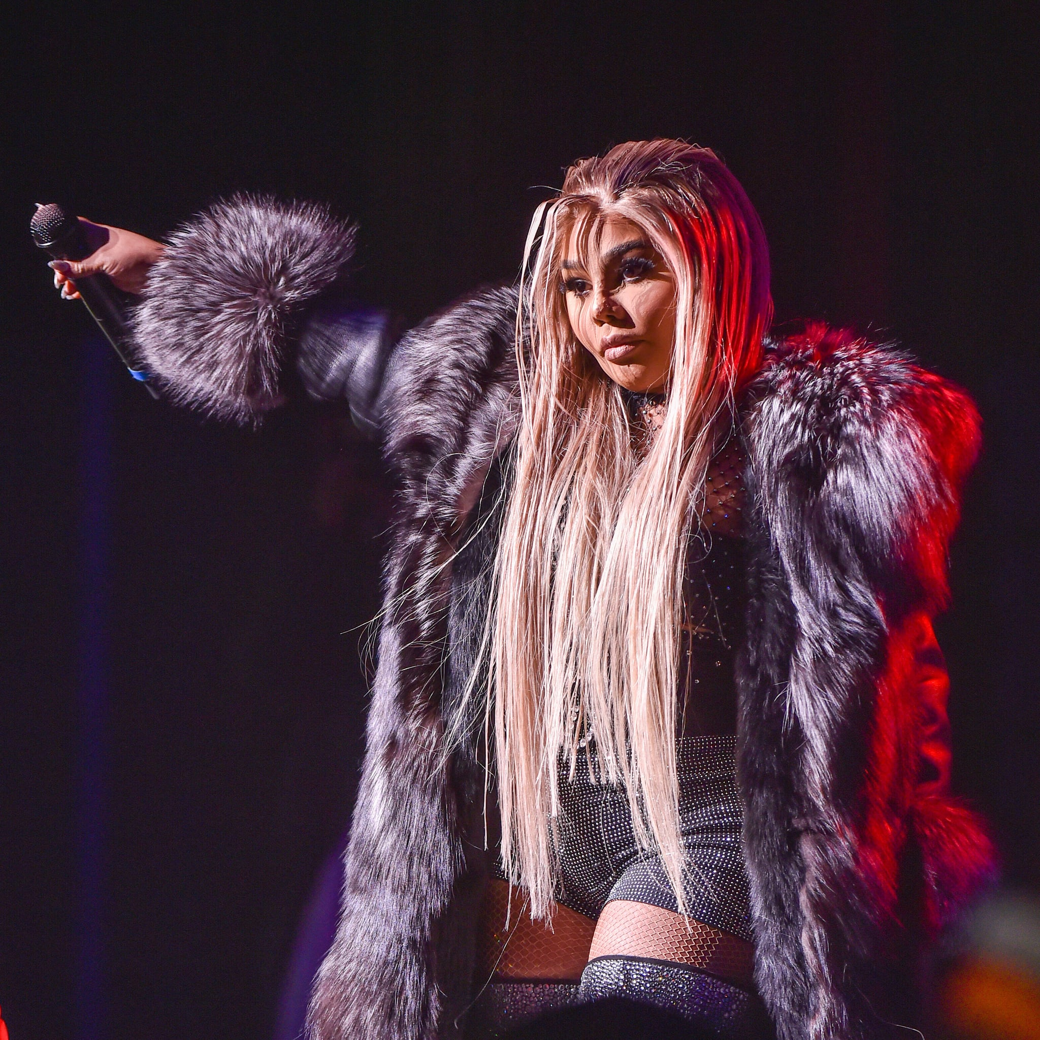 DETROIT, MICHIGAN - JANUARY 18: Recording Artist Lil Kim performs onstage during the Hip Hop Smackdown concert at the Fox Theatre on January 18, 2020 in Detroit, Michigan. (Photo by Aaron J. Thornton/Getty Images)