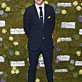 When He Was Giggly With Excitment While Posing on the Red Carpet