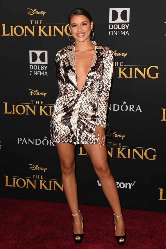 Pictured: Denise Rodriguez at The Lion King premiere in Hollywood.