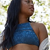 Aerie Crochet High Neck Bikini Top