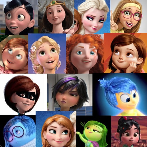 All Female Disney Characters Have The Same Face Popsugar Family