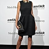 Bianca Balti was a standout in her understated LBD, which she artfully styled with a gold collar necklace.