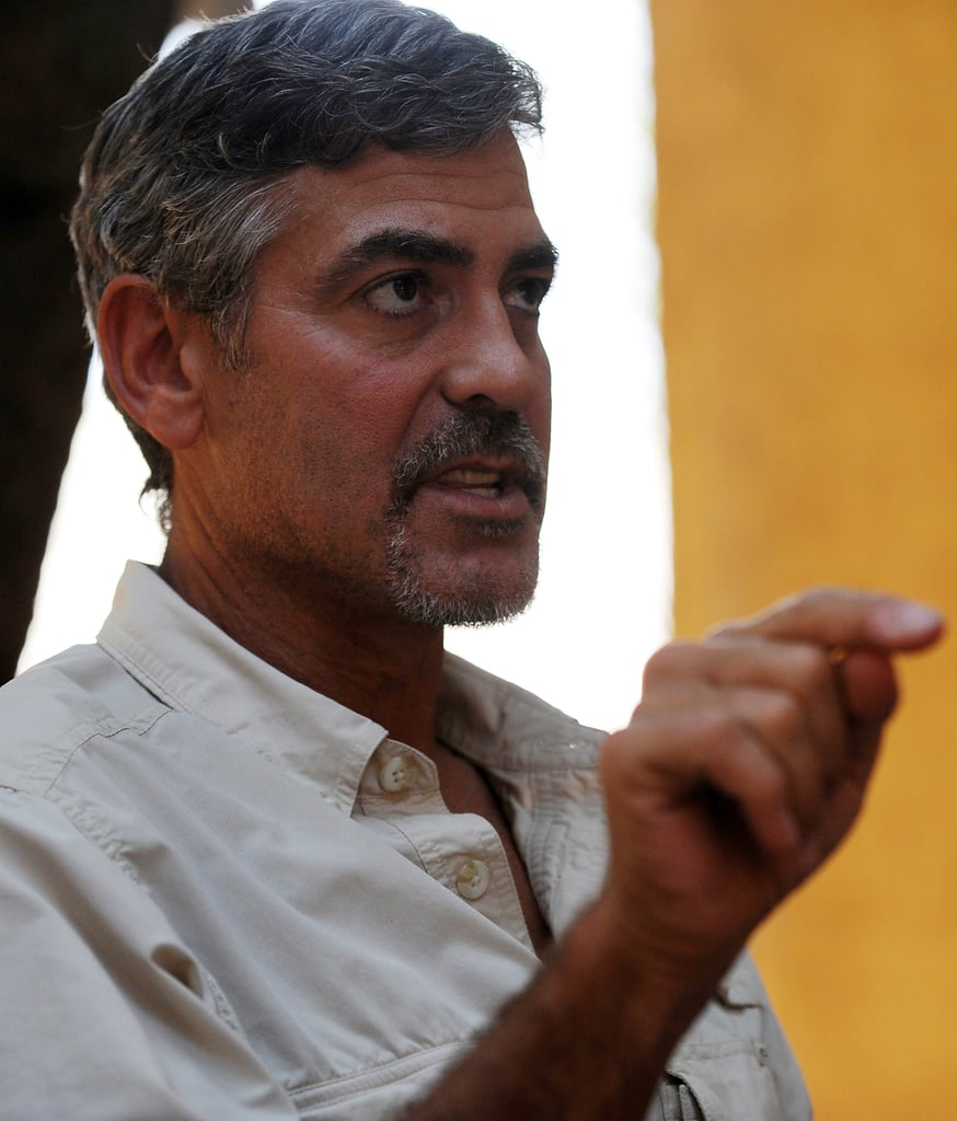 Groovy Pictures Of George Clooney With A Goatee In Sudan 2011 01 09 22 40 Short Hairstyles Gunalazisus