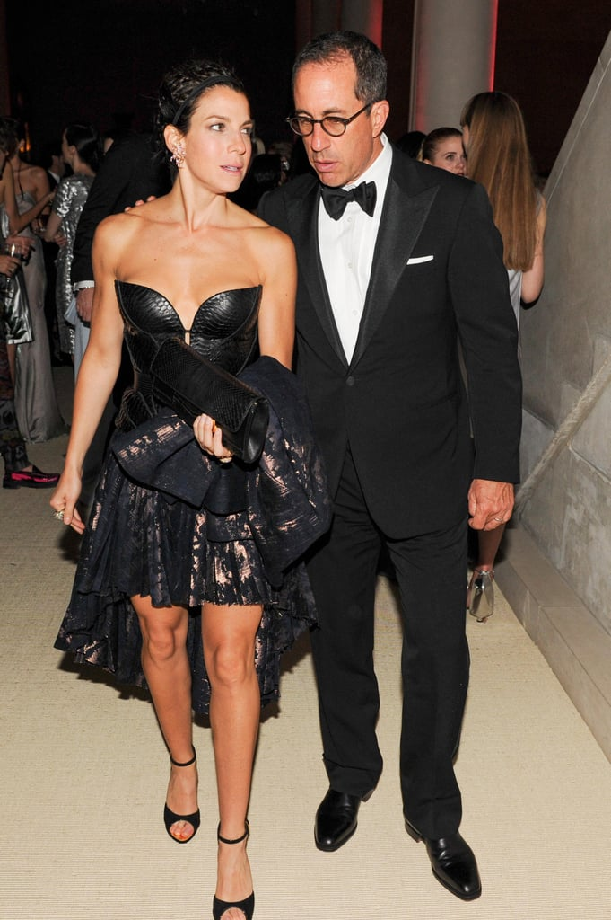 Jerry and Jessica Seinfeld made their way through the Met Gala. Source: Billy Farrell/BFANYC.com