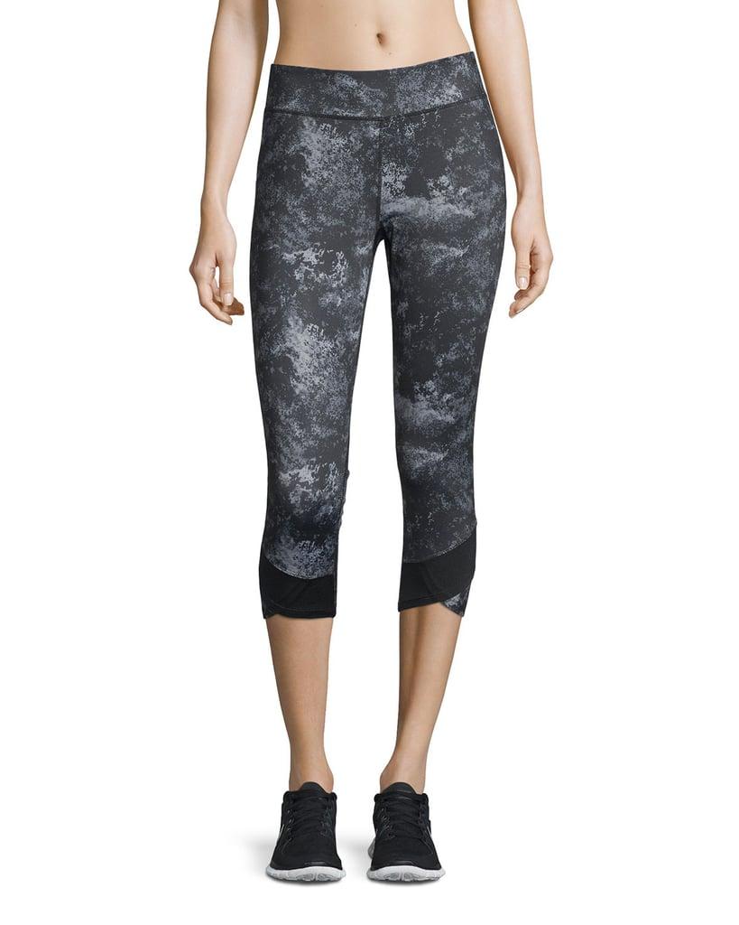 Neiman Marcus Active Marble-Print Cropped Leggings ($49)