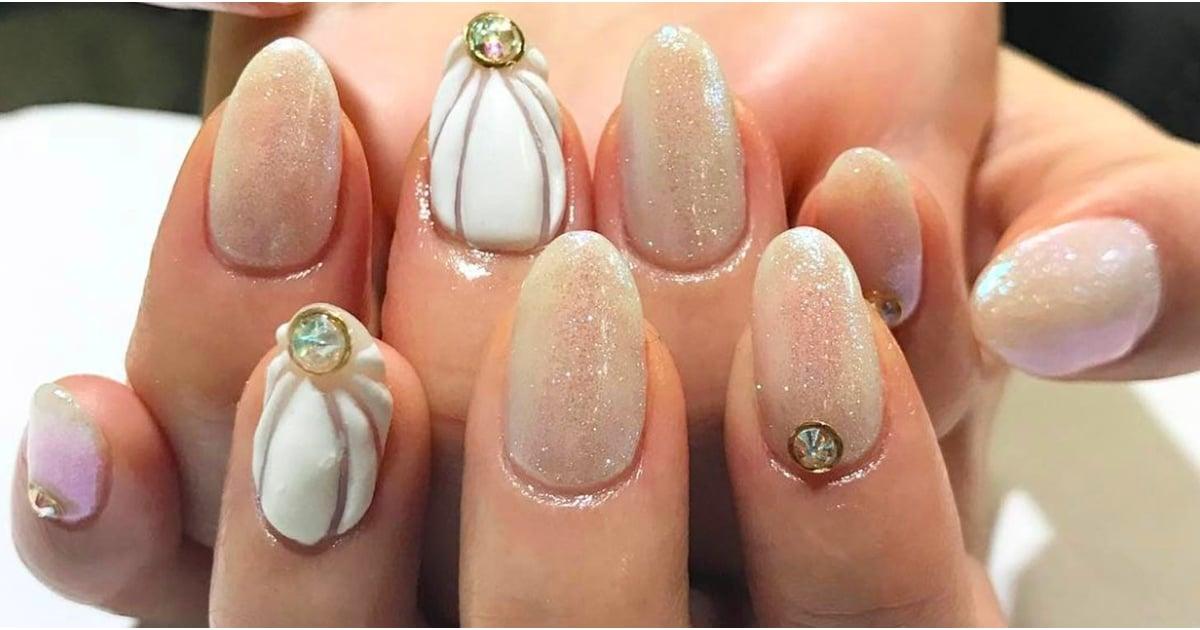 Seashell nail art trend summer 2017 popsugar beauty prinsesfo Choice Image