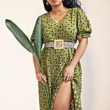 Eloquii Puff Sleeve Dress With Slit