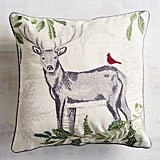 Embroidered Stag Pillow ($35)