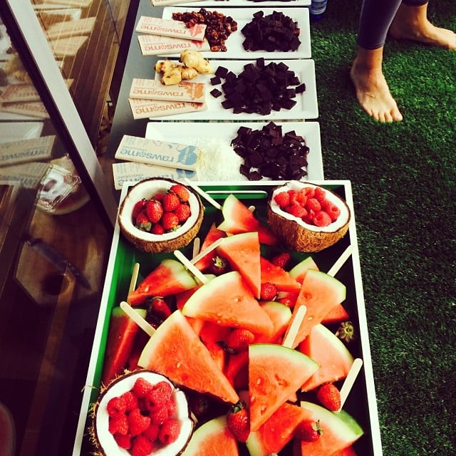 Hip Hop Yoga and treats at Yoga213. Source: Instagram user popsugarau