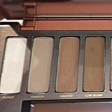 """The first two shadows match perfectly with the top-row third and fifth shadows in the NYX palette. While there was no exact match for shades """"Sauced"""" and """"Low Blow,"""" these are shadows you can find in almost every neutral shadow palette, so you probably already have something similar."""