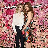 Emma Roberts and Kate Mara made a pretty duo in complementary brights and florals.