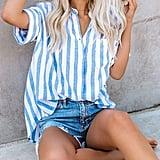 HOTAPEI Striped Shirt