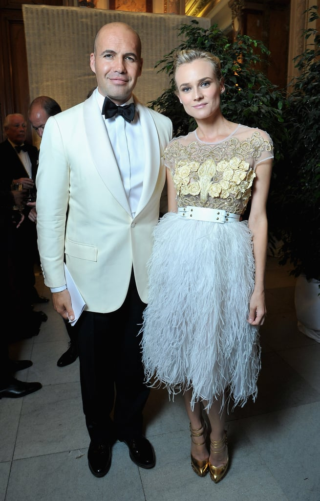 Diane Kruger and Billy Zane posed together inside the event.