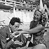 Famous French filmmaker Jean Cocteau got flirty with actress Michèle Morgan on the beach in 1946.