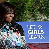 Michelle Obama hosted the Let Girls Learn session in partnership with CNN.