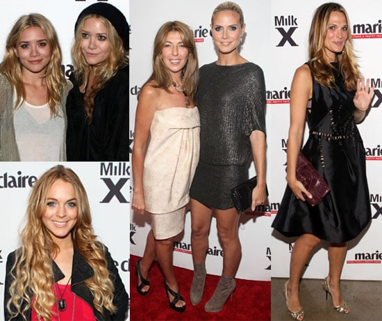 Photos of Mary-Kate Olsen, Ashley Olsen, Nina Garcia, Heidi Klum, Molly Sims, Lindsay Lohan at Marie Claire Event in NYC